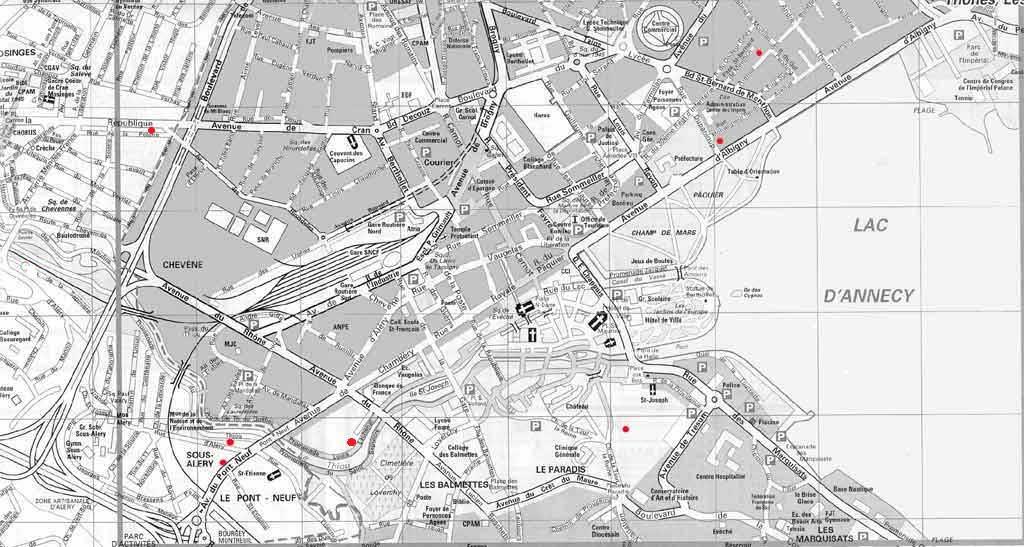 Plan Ville D Annecy